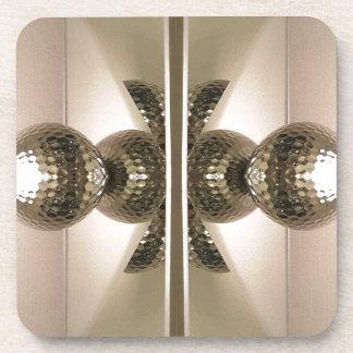 Modern Clean Geometric Mirrored Cabinet Knobs Drink Coaster