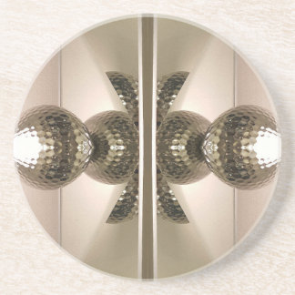 Modern Clean Geometric Mirrored Cabinet Knobs Sandstone Coaster