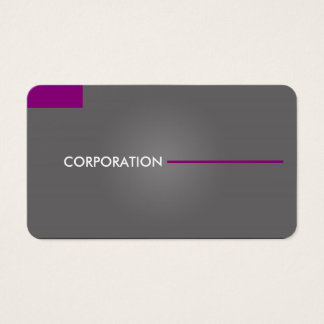 Modern, clean gray and purple business cards