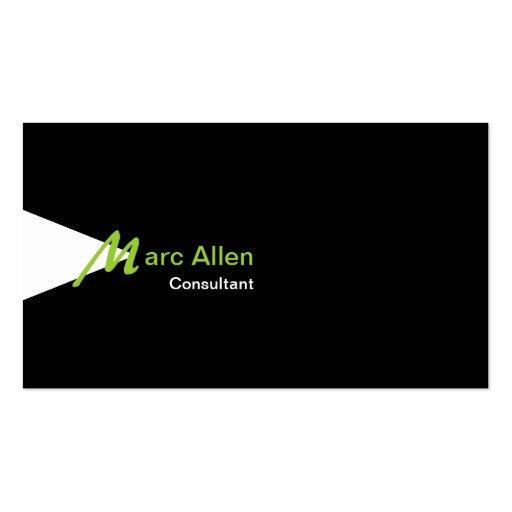 Modern Clean Monogram T04 Business Cards