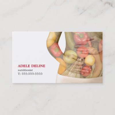 Dietitian nutritionist business card template zazzle colourmoves