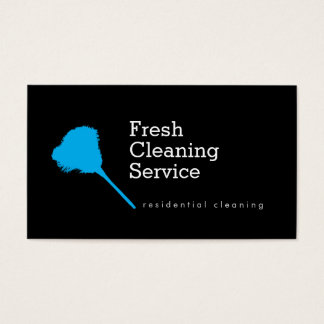 Modern Cleaning Service, Housekeeper Business Card