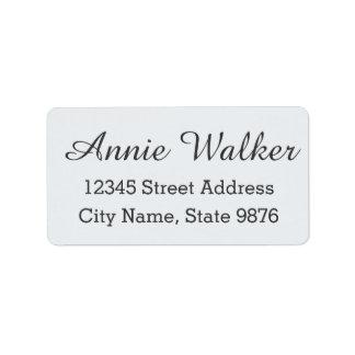 Modern Clear White Custom Address Label