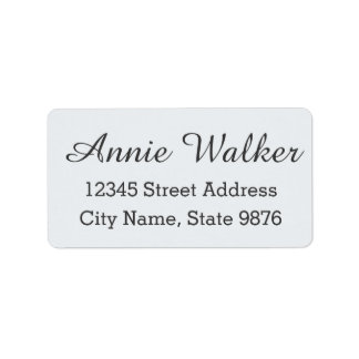 Modern Clear White Custom Address Label