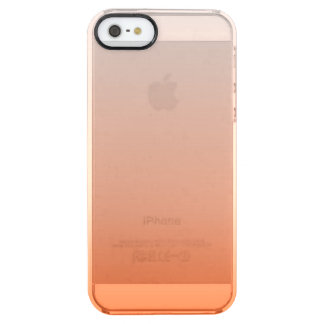 modern Clementine Tangerine orange ombre Clear iPhone SE/5/5s Case