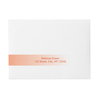 modern Clementine Tangerine orange ombre Wrap Around Address Label