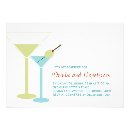 Modern Cocktail Party Invitation Custom Announcements