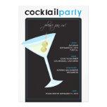 Modern Cocktail Party Invitation (aqua)