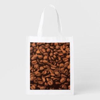 Modern Coffee Beans Reusable Grocery Bag