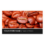 Modern Coffee Beans Store Double-Sided Standard Business Cards (Pack Of 100)