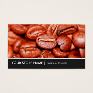 Modern Coffee Beans Store Business Card