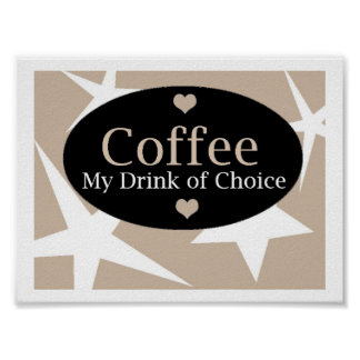 Modern Coffee Design Poster