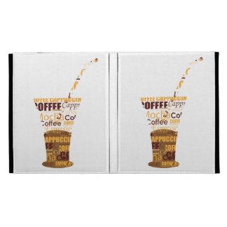 Modern Coffee Illustration iPad Folio Cover