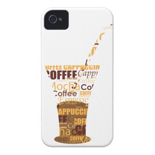 Modern Coffee Illustration iPhone 4 Cover