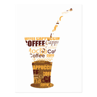 Modern Coffee Illustration Postcard