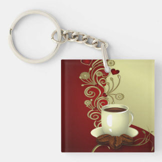 Modern Coffee Lover Keychain