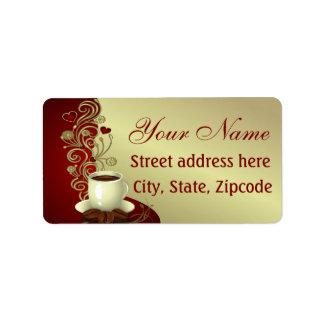 Modern Coffee Lover Address Label