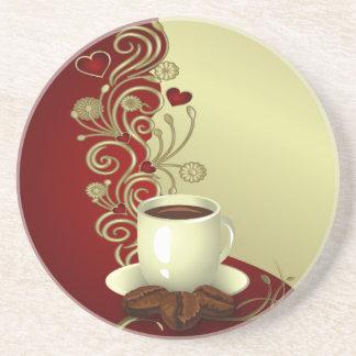 Modern Coffee Lover Sandstone Coaster
