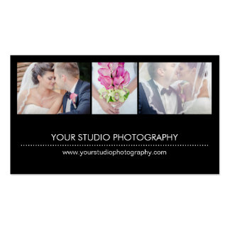 Modern Collage Appointment Reminder Card - Black Double-Sided Standard Business Cards (Pack Of 100)