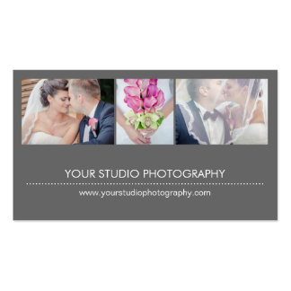 Modern Collage Appointment Reminder Card - Gray Double-Sided Standard Business Cards (Pack Of 100)