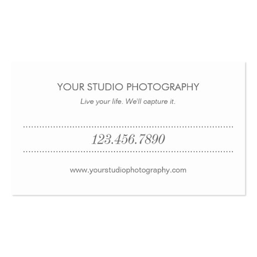 Modern Collage Business Card (back side)