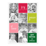 Modern Collage Holiday Photo Cards Personalized Invites