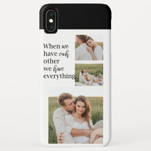 Modern Collage  Photo Romantic Couple Quote Gift iPhone XS Max Case