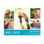 Modern Collage Save The Date Postcard Post Cards