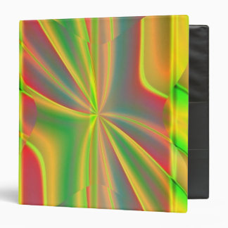 Modern Color Block metallic lemon neon green Binder
