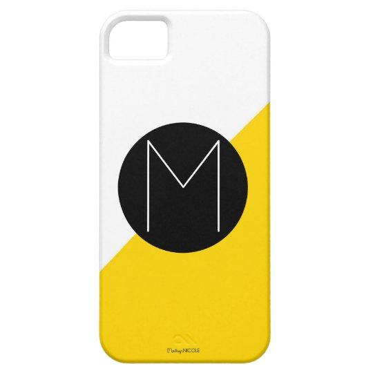 Modern Color Block Monogram Iphone 5/5 Case