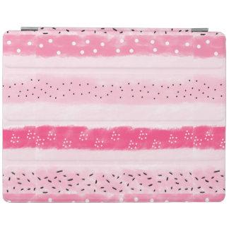 modern color block stripes white pink brushstrokes iPad smart cover