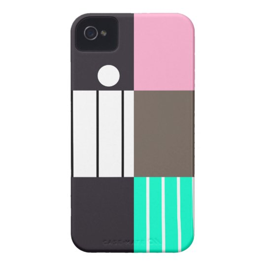 Modern Color-Blocked 2 Case-Mate iPhone 4 Case
