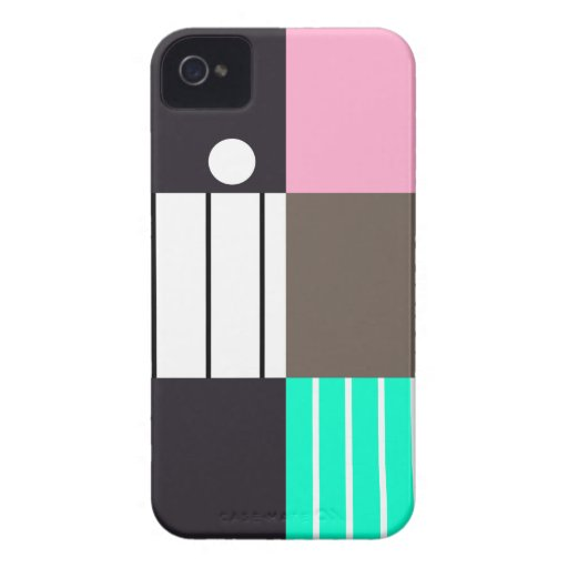 Modern Color-Blocked 2 iPhone 4 Covers