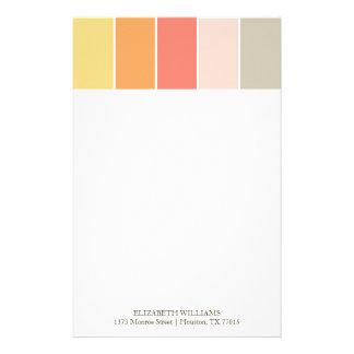 Modern Color Blocks Stationery