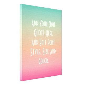 Modern color gradient canvas print
