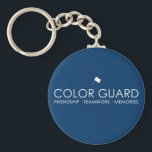 "Modern Color Guard Keychains<br><div class=""desc"">Modern Color Guard keychains. Buy one for each of your friends! Want to customize the color? Click &quot;Customize it&quot;,  then click &quot;edit&quot; and select &quot;background&quot;.</div>"