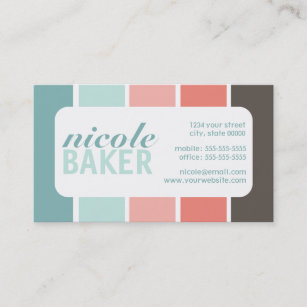 Colorful colour palette business cards templates zazzle modern color palette business cards reheart Gallery