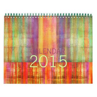 Modern Color Stripe Contemporary Art Calendar 2015