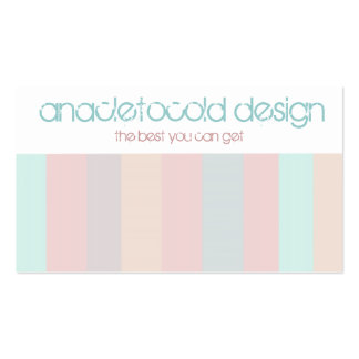 modern color stripes business card