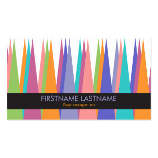 Modern Color Tall Triangles Profile Business Card