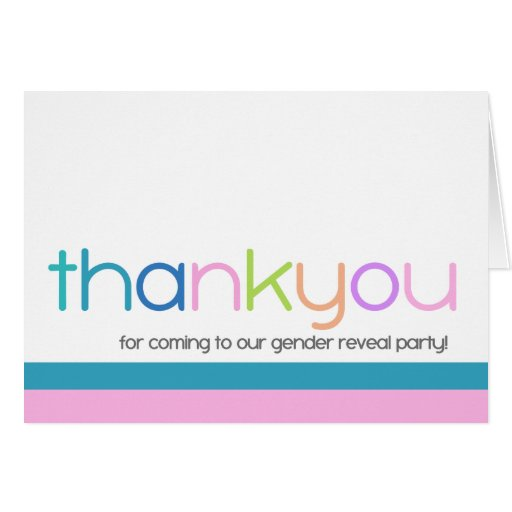 Modern Color Thank You Card Note Card