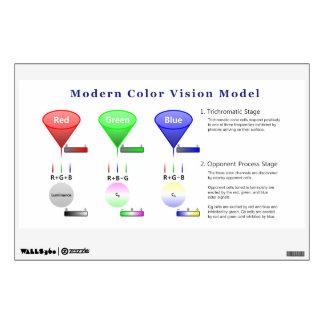 Modern Color Vision Model Diagram Wall Sticker