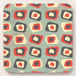 Modern colored curved rectangle pattern beverage coaster
