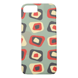Modern colored curved rectangle pattern iPhone 8/7 case