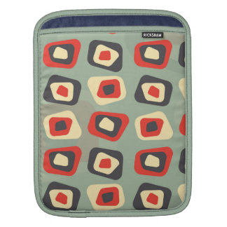 Modern colored curved rectangle pattern sleeve for iPads