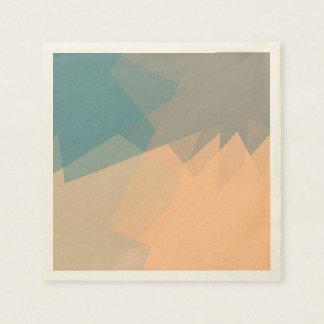Modern Colored Mosaic Geometric Pattern #11 Paper Napkin