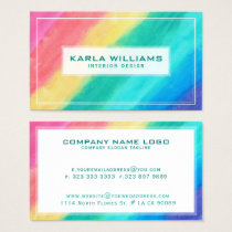 Modern Colorful Abstract Brush Stroke Business Card