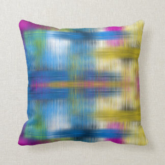 Modern Colorful Abstract Crosshatch Throw Pillow