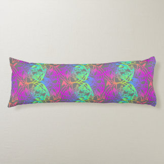 Modern Colorful Abstract Glow Patterned Body Pillow