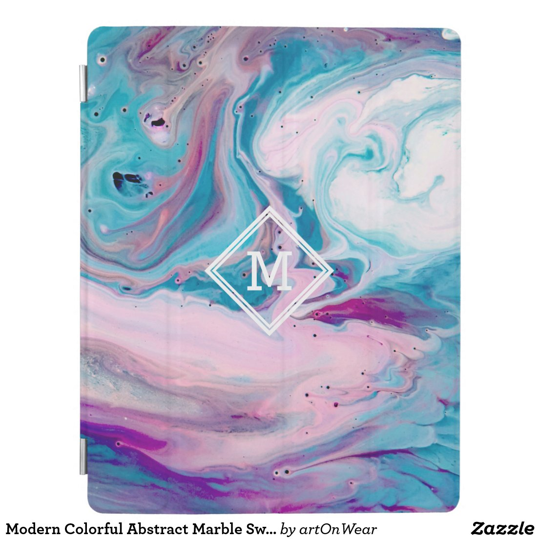 Modern Colorful Abstract Marble Swirls GR3